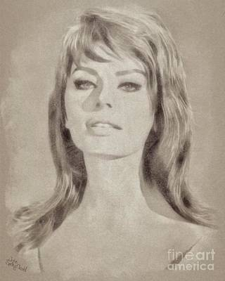 Musicians Drawings Rights Managed Images - Sophia Loren Hollywood Actress Royalty-Free Image by Esoterica Art Agency
