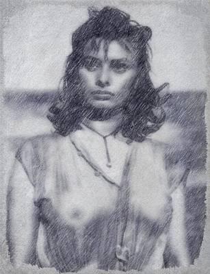 Sophia Loren Art Print by John Springfield
