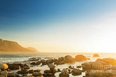 Mountains Photograph - South African Ocean Sunset by Tim Hester