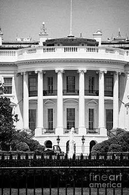 Whitehouse Photograph - south facade of the white house Washington DC USA by Joe Fox