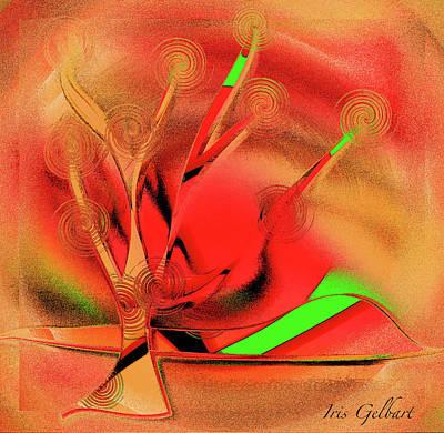 Digital Art - South by Iris Gelbart