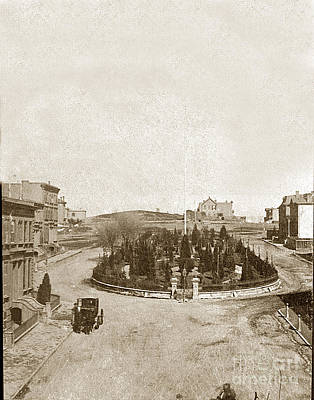 Photograph - South Park San Francisco Circa 1865 by California Views Mr Pat Hathaway Archives