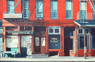 Urban Store Painting - South Street by Anthony Butera
