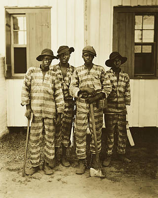 Photograph - Southern Chain Gang 1903 by Detroit Publ Co