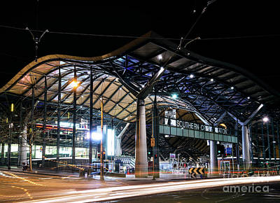 Photograph - Southern Cross Railway Station In Central Melbourne Australia At by Jacek Malipan