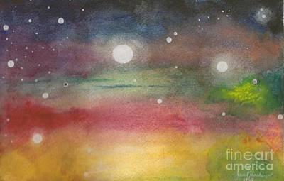 Space Rainbow Art Print by Janet Hinshaw