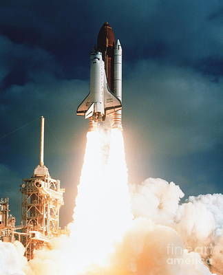 Hubble Space Telescope Photograph - Space Shuttle Launch by NASA Science Source