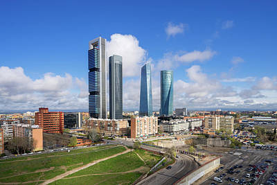 Photograph - Spain Financial District  by Anek Suwannaphoom