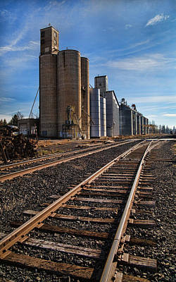 Photograph - Spangle Grain Elevator by Paul DeRocker
