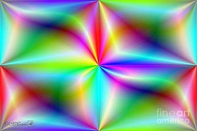 Digital Art - Spectrum Brights Colour Foil Series I by J McCombie