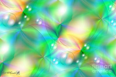 Digital Art - Spectrum Lights Balls And Bubbles Series I by J McCombie