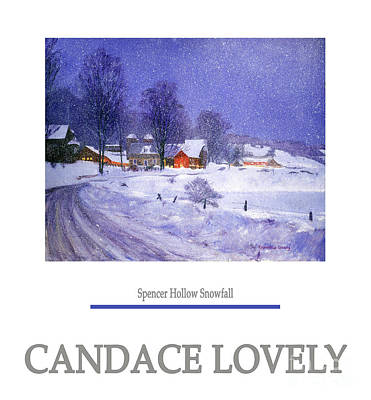 Painting - Spencer Hollow Snowfall by Candace Lovely