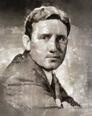 Elvis Presley Painting - Spencer Tracy Vintage Hollywood Actor by Mary Bassett