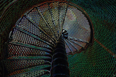 Staircase Painting - Spiral Staircase by David Lee Thompson