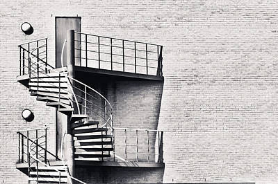 Spiral Stairs Print by Tom Gowanlock