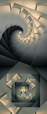 Digital Art - Spiralling by Ron Bissett