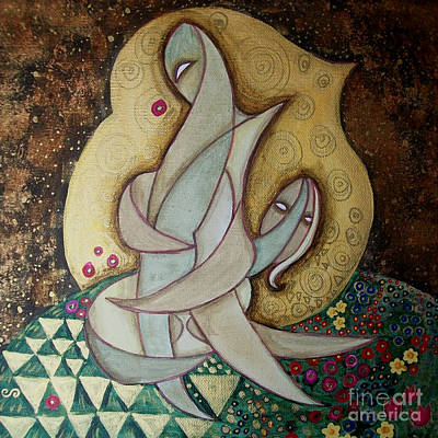 Spirit Lovers Art Print by Carola Joyce
