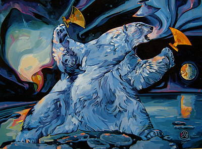 Art Print featuring the painting Spirit Of The Arctic Winter Games  by Tim  Heimdal