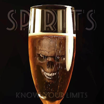 Digital Art - Spirits - Know Your Limits by ISAW Gallery