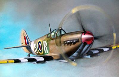 Painting - Spitfire  by Riek  Jonker