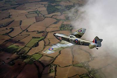Photograph - Spitfire Xvi Td240 Sz-g by Gary Eason