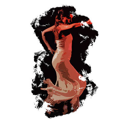 Painting - Splash Of Flamenco by Andrea Mazzocchetti