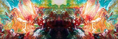 Trippy Digital Art - Splash by Sumit Mehndiratta
