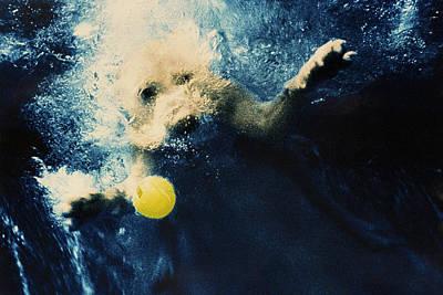 Diving Dog Photograph - Splashdown by Jill Reger