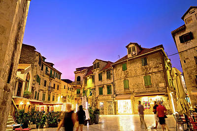 Photograph - Split Diocletian's Palace Street Evening View by Brch Photography