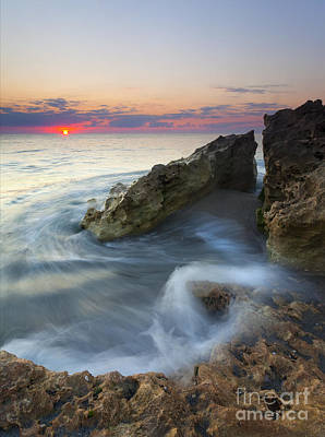 Atlantic Ocean Photograph - Splitting The Tides by Mike Dawson