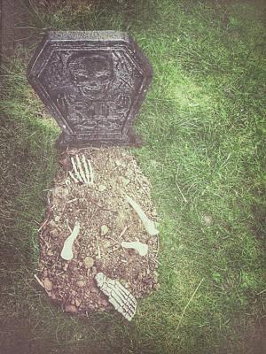 Grave Photograph - Spooky Grave Stones by Tom Gowanlock