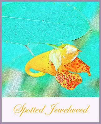 Digital Art - Spotted Jewelweed Wildflower by A Gurmankin