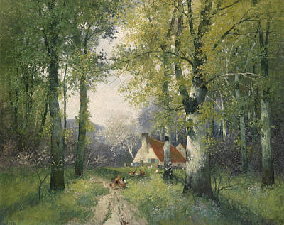 Painting - Spring by Adolf Kaufmann