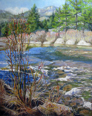 Pastel - Spring Along The Big Thompson by Carole Haslock