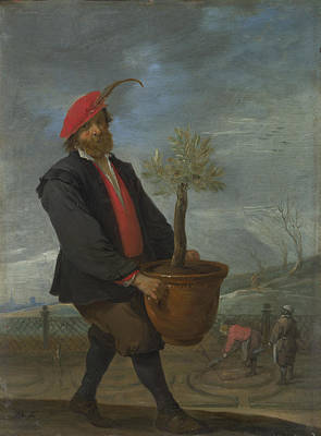 Digital Art - Spring by David Teniers the Younger
