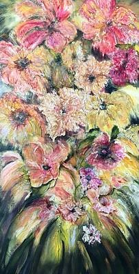 Painting - Spring Fireworks by Chuck Gebhardt