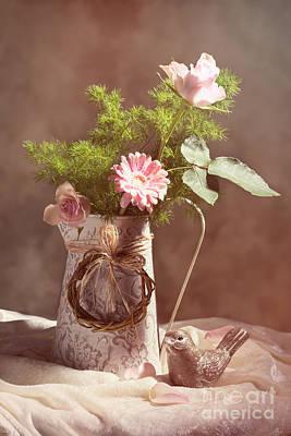 Rosebud Photograph - Spring Flower Arrangement by Amanda Elwell