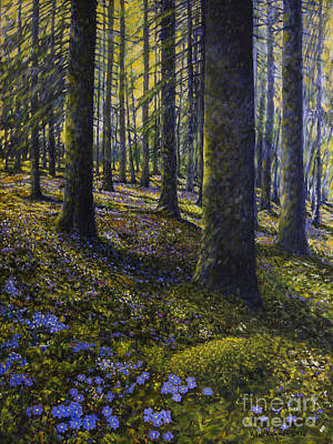 Morning Light Painting - Spring Forest by Veikko Suikkanen