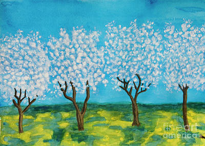 Painting - Spring Garden, Painting by Irina Afonskaya