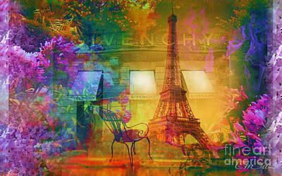 Bistro Mixed Media - Spring In Paris by Cma