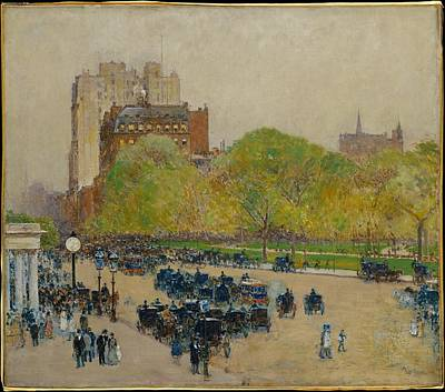 Spring Morning In The Heart Of The City Original by Childe Hassam