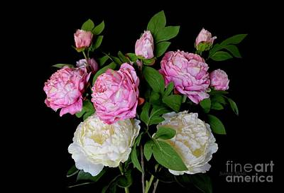 Photograph - Spring Peonies Bouquet by Jeannie Rhode
