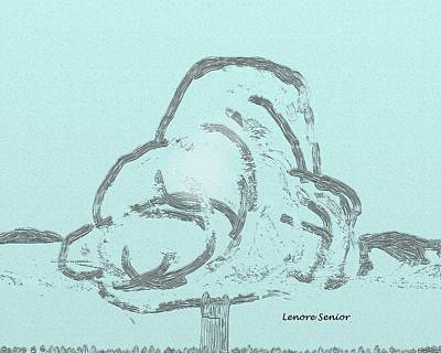 Spring Snow Art Print by Lenore Senior