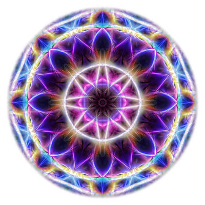 Digital Art - Spring Energy Mandala 2 by Beth Sawickie