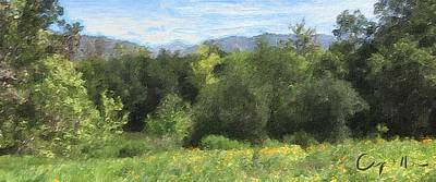 Painting - Springtime At Descanso Gardens  by Jan Cipolla