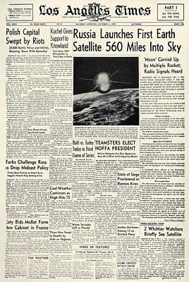 Photograph - Sputnik I, 1957 by Granger