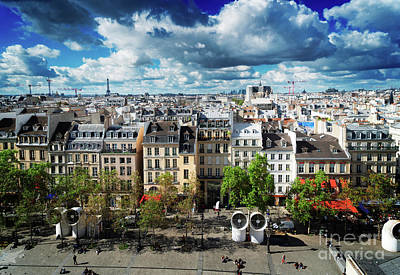 Paris Skyline Royalty-Free and Rights-Managed Images - Square of Georges Pompidou, Paris by Anastasy Yarmolovich
