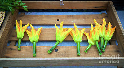 Photograph - Squash Blossoms by Bruce Block
