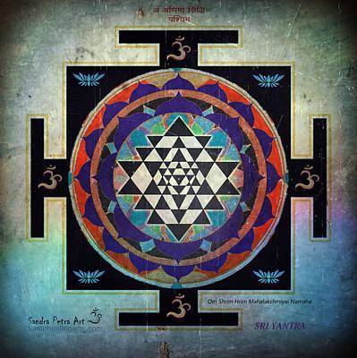 Sri Yantra Painting - Sri Yantra Magic by Sandra Petra Pintaric