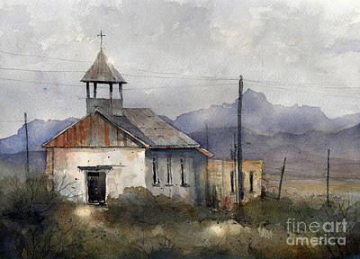 Painting - St. Agnes Of Terlingua 2 by Tim Oliver